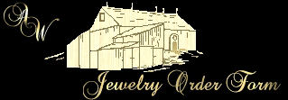 Jewelry Order Form, Artisian Workshops