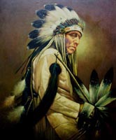 American Indian Oil Painting, Maureen Bloesch, artist