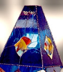 Fused Glass Lamp, View 1