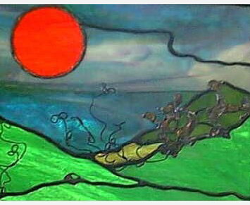 Stained Glass Landscape, Free Online Workshop in Stained Glass